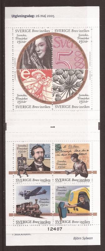 Sweden scott #2512-13 cmplt bklt m/nh stock #35430