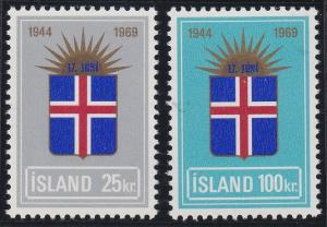 Iceland 408-409 MNH (1969)
