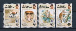 [54064] Brunei 1991 Wild animals Mammals WWF Monkeys MNH