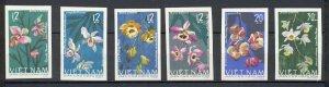 Vietnam - 1966 - Mi. 425-30B (Flowers - IMPERFORATED) - MNH - K5824