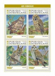 HERRICKSTAMP NEW ISSUES CENTRAL AFRICA Owls Sheetlet