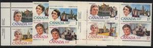 Canada - 1981 Feminists Issue Blocks mint #879-882,879i
