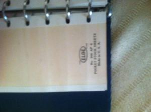 Mini Stamp stock book. Elbe brand