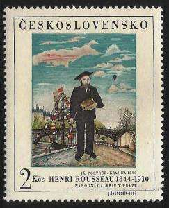 Czechoslovakia, Henry Rousseau self portrait 1967, Sc# 1484
