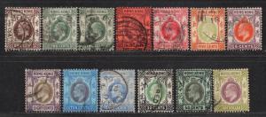 **Hong Kong, SC# 86-95, 99,102-3 Used, FVF Partial Set, Wmk 3, CV $37.10