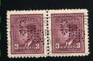 C  #280  used  perforated pair  VF 1948 PD