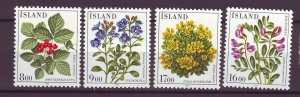 J25446 JLstamps 1985 iceland set mnh #602-5 flowers
