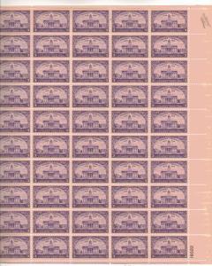 US 838 - 3¢ Old Capital, Iowa City Unused
