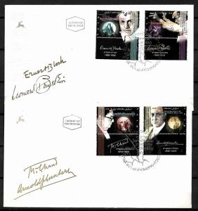 ISRAEL STAMPS. 2 FD COVERS FAMOUS JEWISH COMPOSERS. 1995