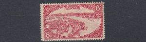 BRUNEI  1924 - 37  S G 70    6C  SCARLET      VLMH  LIGHTLY TONED