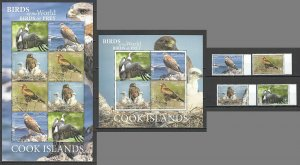 MV 2019 EXCLUSIVE COOK ISLANDS FAUNA BIRDS OF PREY SH+KB+SET NOMINAL 196 $ MNH