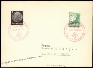 3rd Reich Germany 1938 Wiestenthal Sudetenland Annexation Provisional Cove 67893