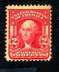 U.S. #319 MINT FVF OG NH Cat $15