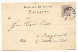 German States Bavaria Postal Card Mi #P16 1887