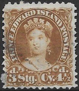 Prince Edward Island 10   1870  4 1/2 pence fine used