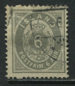 Iceland 1876 6 aurar gray used