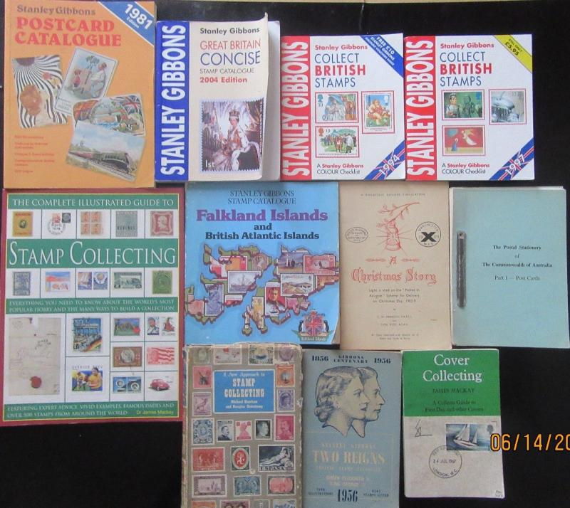 1902 ON-WARDS STAMP REFRENCE BOOKS X11  IN TOTAL ALL DIFFRENT MIXED COUNTRYS.