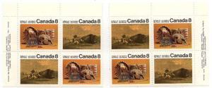 Canada USC #562, 562i,563 & 563i Mint - UL & UR Imprint Blocks - VF-NH