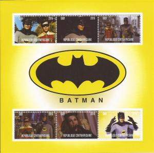 2016 Batman - 6 Stamp Sheet - 3H-981
