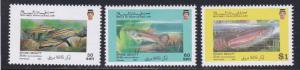 Brunei # 430-432, Fish, NH, 1/2 Cat.