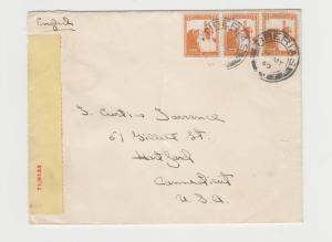 PALESTINE -USA 1940 CENSOR COVER TIBERIUS, #48 LABEL#71/9133, 15m RATE(SEE BELOW