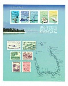 MCK94) Cocos Keeling Islands 2013 50 Years of Stamps Sheetlet MUH