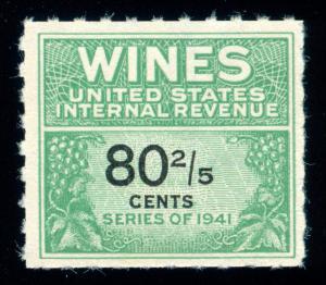 MOMEN: US STAMPS #RE194 WINE REVENUE NGAI FRESH VF/XF