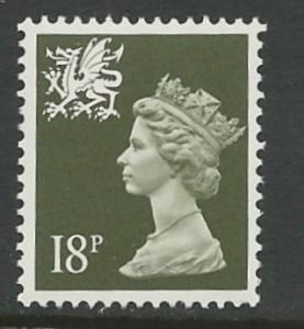 Great Britain-Wales # WMMH33    18p  1/06/1987  (1) Mint NH