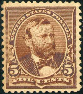 1890 US #223 A64 5c Mint Never Hinged Stamp Catalogue Value $185