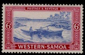 SAMOA GVI SG224, 6d pale ultramarine & rose-magenta, LH MINT.