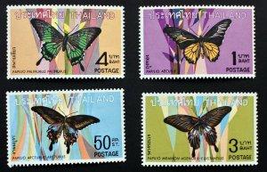 Thailand butterflies 1969 MNH stamps Scott 509 - 512