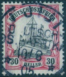 Germany East Africa UJIJI Unwmk Ostafrika DOA Expertized 94063