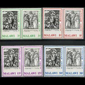MALAWI 1971 - Scott# 166a-72b Durer Engravings Set of 8 NH
