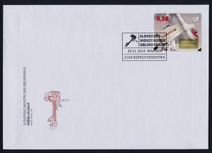 Slovenia 1095 on FDC - Industrial Design, Outboard Engine