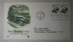 US FDC Sc# 2131 Stutz Bearcat 1933 Art Craft Baton Rouge LA 1985