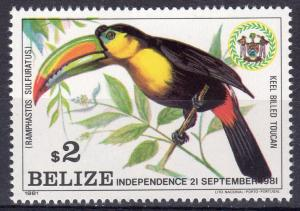 Belize 1981 Sc# 599 Keel-billed Toucan - Birds - Parrot - Single MNH