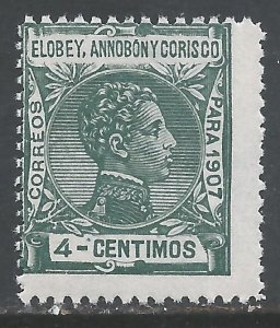 ELOBEY, ANNOBON Y CORISCO 42 MNH 176A-1