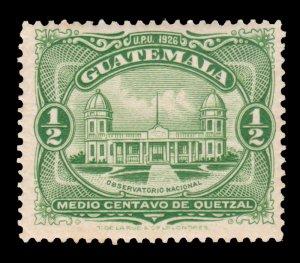 GUATEMALA STAMP 1929 SCOTT # 233. UNUSED. # 7