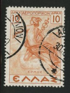 GREECE Scott C35 used 1937 Airmail stamp CV$2.40