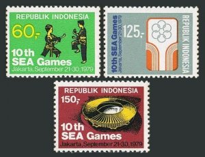 Indonesia 1056-1058,MNH.Mi 936-938.10th South East Asia Games,1979.Self defense,