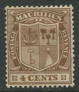 STAMP STATION PERTH Mauritius #167 Coat of Arms MH Wmk 4 1925 CV$2.50