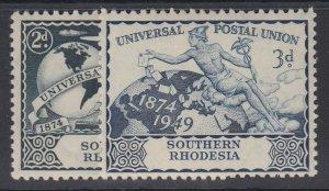 SOUTHERN RHODESIA, Scott 71-72, MHR