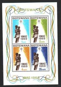 Botswana. 1969. Bl2. Christmas. MNH.