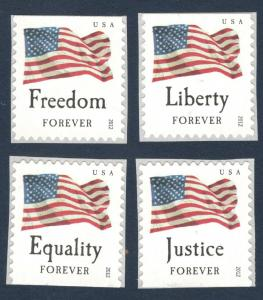 4641-4644 Four Flags Set Of 4 Mint/nh Free Shipping (A-168)