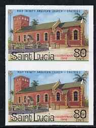St Lucia 1986 Holy Trinity Church 80c (Christmas) imperf ...