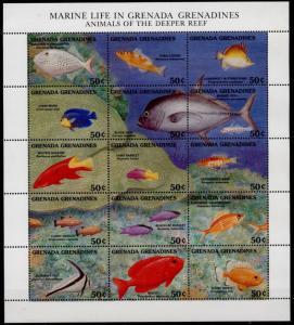 Grenada Grenadines 1356 MNH Marine Life of the Deeper Reef, Fish