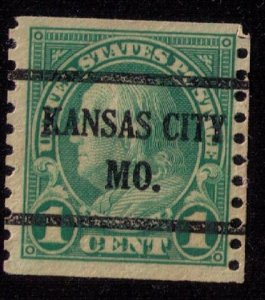 US Sc 597 USED Precancel Kansas City Mo. VF