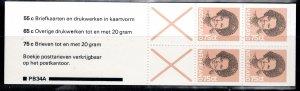 Netherlands Scott # 622a, mint nh, cpl. stamp booklet, se-tenant