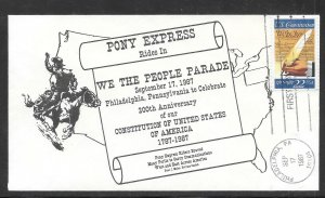 Just Fun Cover #2360 Pony Express 200 Years Anni. of The Constitution (my4581)