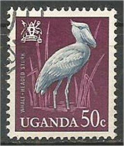UGANDA, 1965,  used 50c, Birds Scott 103
